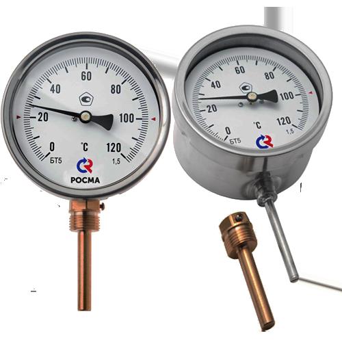 Термометр биметаллический БТ 52.211